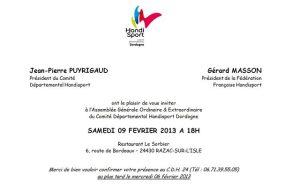 Blog de cdhd24 : COMITE DEPARTEMENTAL HANDISPORT DORDOGNE, Assemblée Générale Ordinaire et Extraordinaire du Comité Handisport Dordogne