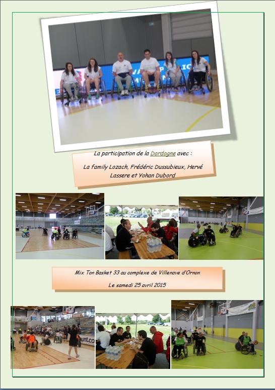 Blog de cdhd24 : COMITE DEPARTEMENTAL HANDISPORT DORDOGNE, Clin d'oeil photos pour le tournoi du 25 avril 2015......